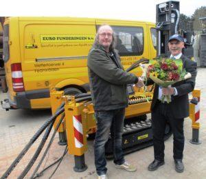 LEBOTEC BV levert nieuwe LBT-1.4-SI compact schroefinjectiepaal machine