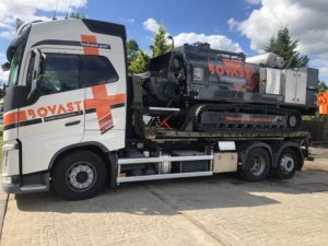 Lebotec has recently delivered new concrete pump on tracks.